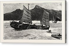 From Hong Kong To Macao In A Torpedo Boat, We Leave Acrylic Print by English School