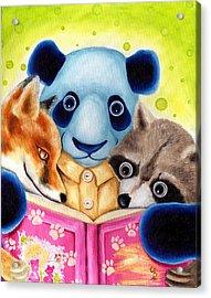 From Okin The Panda Illustration 10 Acrylic Print by Hiroko Sakai