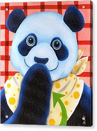 From Okin The Panda Illustration 11 Acrylic Print by Hiroko Sakai