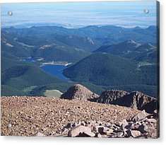 From Pike's Peak Acrylic Print by Sheila Byers