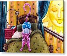 From Purple Cat Illustration 2 Acrylic Print