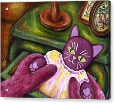Acrylic Print featuring the painting From Purple Cat Illustration 20 by Hiroko Sakai