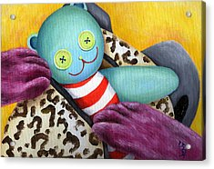 Acrylic Print featuring the painting From Purple Cat Illustration 21 by Hiroko Sakai