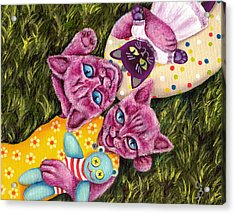 Acrylic Print featuring the painting From Purple Cat Illustration 23 by Hiroko Sakai