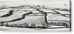 From Raddon Top In The Snow Acrylic Print by Pete Hemington