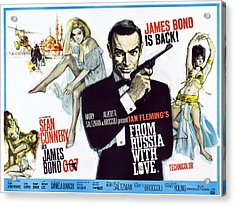 From Russia With Love, British Poster Acrylic Print by Everett