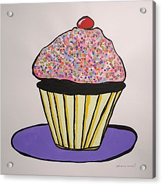 Acrylic Print featuring the painting From The Cupcake Cafe by John Williams