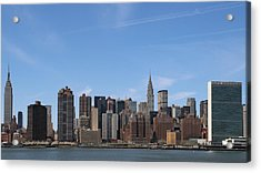 From The Empire State To The Un Acrylic Print by Jim Poulos