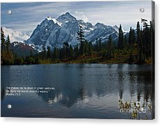 Acrylic Print featuring the photograph From The Hills by Rod Wiens