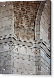 From The Moral... Acrylic Print by Art Whitton