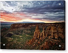 From The Overlook - Colorado National Monument Acrylic Print by Ronda Kimbrow