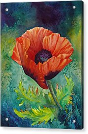 Acrylic Print featuring the painting From The Poppy Patch by Karen Mattson