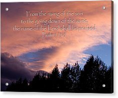From The Rising Of The Sun Acrylic Print