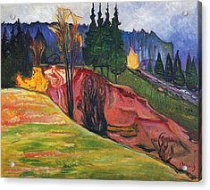 From Thuringewald Acrylic Print by Edvard Munch