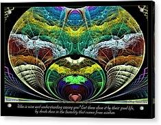 From Wisdom Acrylic Print