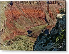 Acrylic Print featuring the photograph From Yaki Point 5 Grand Canyon by Bob and Nadine Johnston
