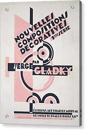 Front Cover Of Nouvelles Compositions Decoratives Acrylic Print by Serge Gladky
