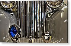 Front Detail 1947 Jaguar Acrylic Print