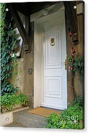Acrylic Print featuring the photograph Front Door by Arlene Carmel