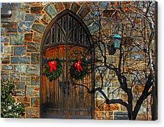 Front Door To Baldwin Memorial United Methodis Acrylic Print