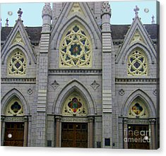 Acrylic Print featuring the photograph Front Of Church by Gena Weiser