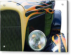 Acrylic Print featuring the photograph Front Of Hot Rod Car by Gunter Nezhoda