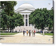 Front Of The National Gallery Of Art In Washington Dc Acrylic Print by William Kuta