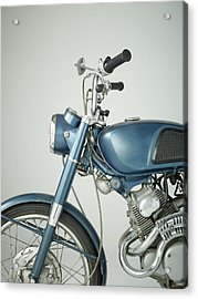 Front Of Vintage Motorcycle In Studio Acrylic Print by Nisian Hughes