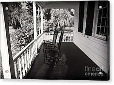 Front Porch Chairs Acrylic Print by John Rizzuto