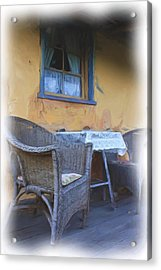 Front Porch. Acrylic Print by Ian  Ramsay