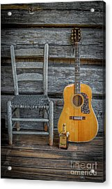 Front Porch Pick'n Acrylic Print by Marion Johnson