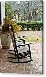 Front Porch Rockers Acrylic Print by Scott Pellegrin