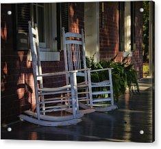 Front Porch Rockers Acrylic Print