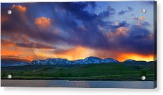 Front Range Light Show Acrylic Print by Darren  White