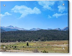 Front Range Rockies Acrylic Print by Kay Pickens