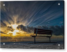 Front Row Acrylic Print by James  Meyer