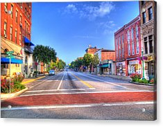 Acrylic Print featuring the photograph Front Street Marietta by Jonny D
