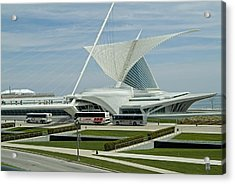 Front View Milwaukee Art Museum Acrylic Print by Devinder Sangha