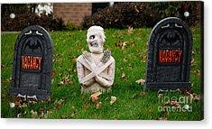 Front Yard Halloween Graveyard Acrylic Print