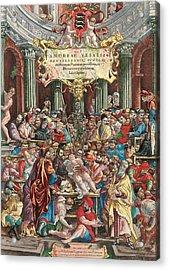 Frontispiece To De Humani Corporis Fabrica Libri Septem Acrylic Print
