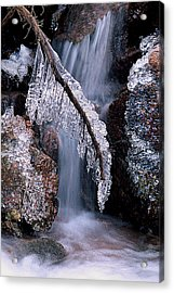 Fronzen Beauty Aka Ice Is Nice Xii Acrylic Print by Bijan Pirnia