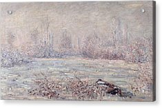 Frost Near Vetheuil Acrylic Print by Claude Monet