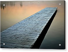 Frost On The Dock Acrylic Print by Greg Jackson