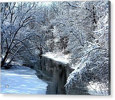 Frosted Creek Acrylic Print by Debbie Finley