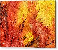 Frosted Fire IIi Acrylic Print by Irina Sztukowski