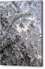 Frosted Glass Abstract Acrylic Print by Christina Rollo
