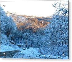 Frosty Descent Acrylic Print