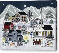 Frosty Evening Acrylic Print by Medana Gabbard