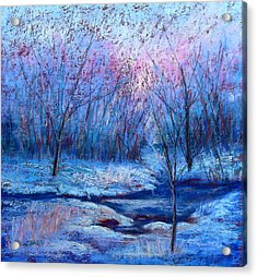 Frosty Morning Acrylic Print by Christine Bass