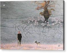 Frosty Morning Acrylic Print by Harry Robertson